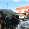 We met here for breakfast in Salmon Arm, BC.  I'd taken an alternative route.