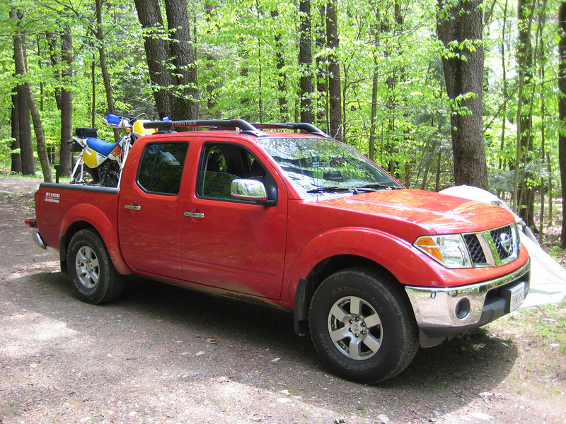 """My """"new to me"""" Nissan Frontier at the campsite."""