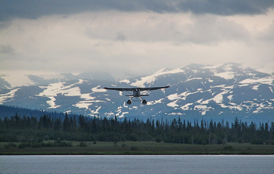 Caught this float plane taking off from a lake.