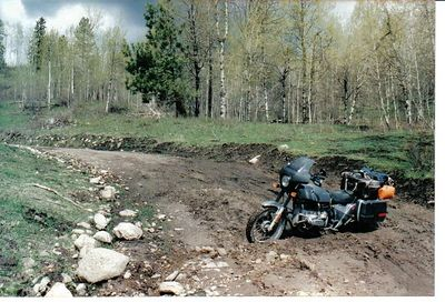 Motorcycles on road 002