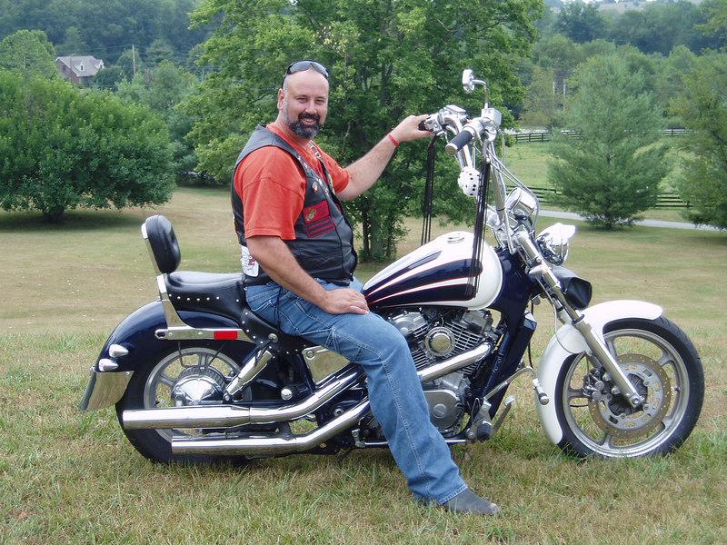 Big Al on his bike, 8-05