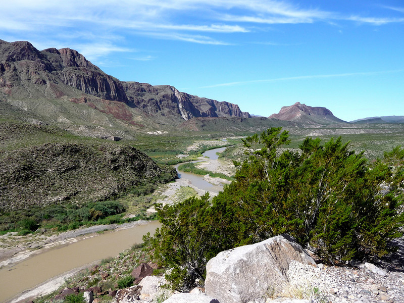 Along Ranch Road 170, Mexico across the river