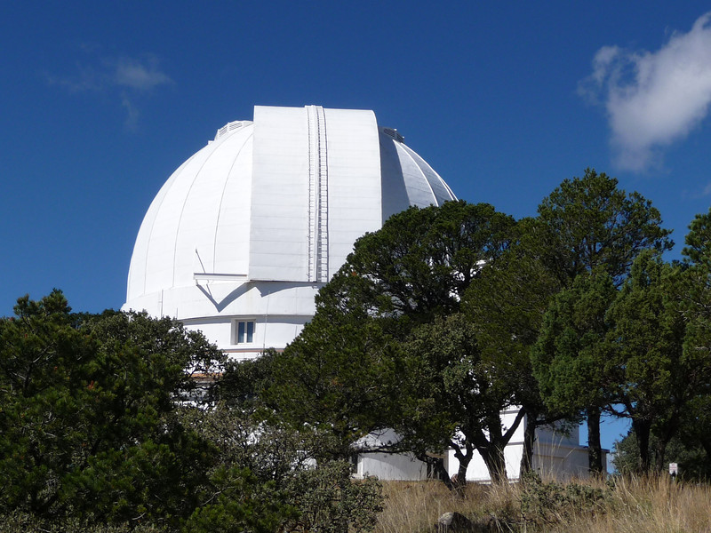 McDonald Observatory 103 inch mirror telescope.  McDonald was a rich Paris Texas banker who left a pile of money in 1930s to build an observatory, now run by UT.