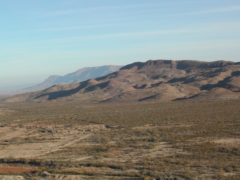 a nice late afternoon view into one of the Terlingua Ranch valleys.