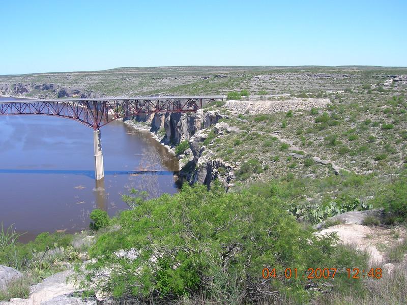 Pecos River overlook.