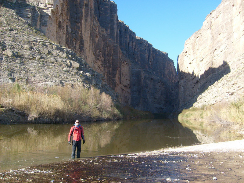 Standing in the Rio Grande