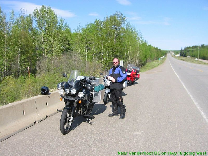 Me, leading the pack - 400 miles range non-stop on Tiger with 10 gallons onboard.