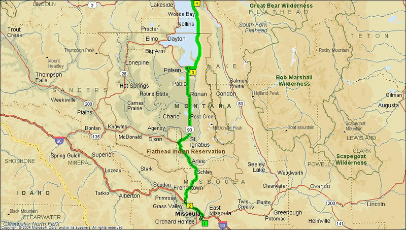 Part of Day 2 - West Yellowston to Polston MT