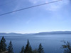 Flathead Lake viewing from east to southwest