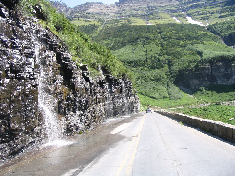 """The """"Weeping Wall"""" on the """"Going to the Sun Road"""""""