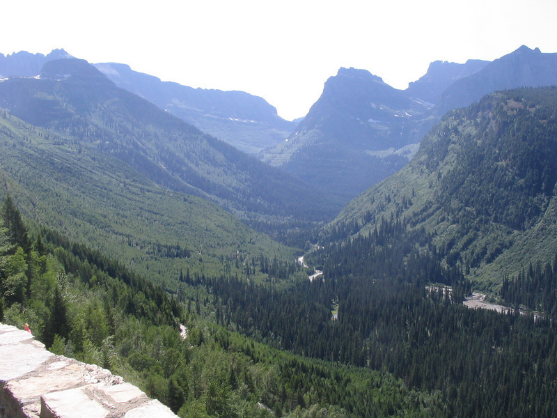 Here, the results of glacier action can be seen, carving the long deep canyons