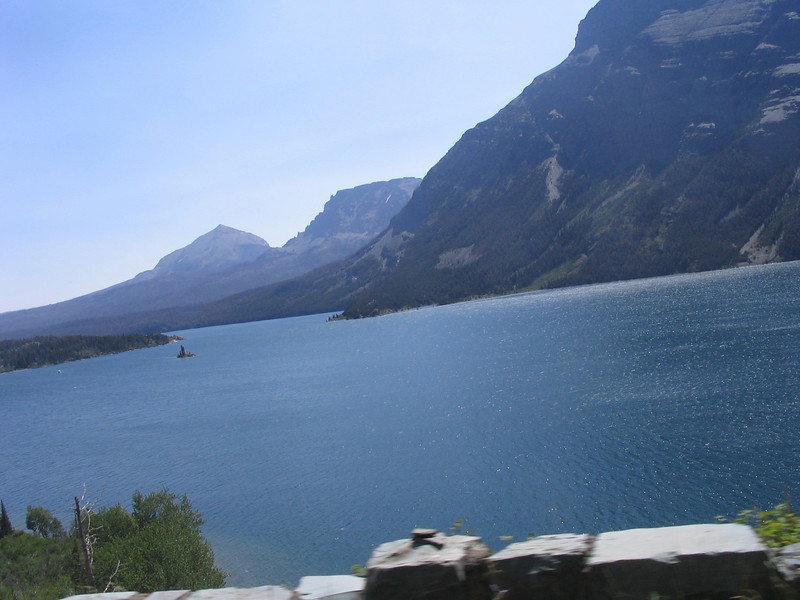 St. Mary Lake on the eastern side of the park.