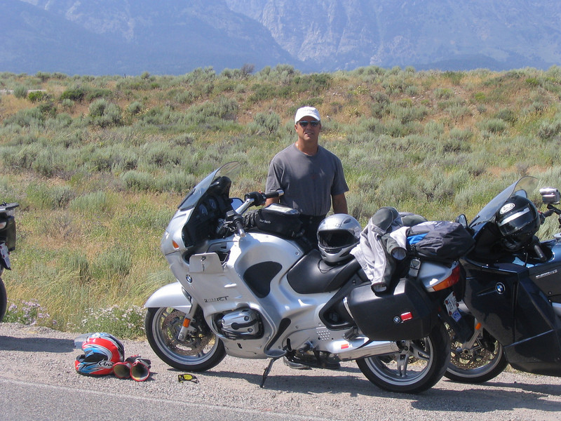Jorge and his comfy R1150RT, I was jealous by late afternoon every day.