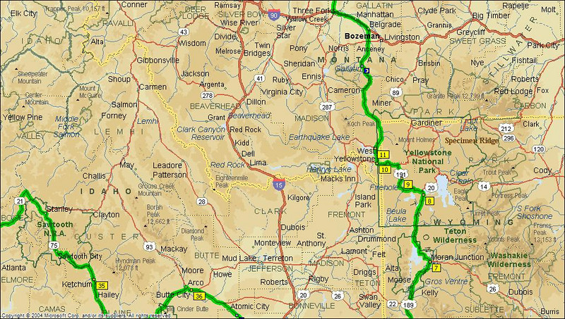 Day 1 - Evanston to West Yellowston. We would have liked to see more but time was short