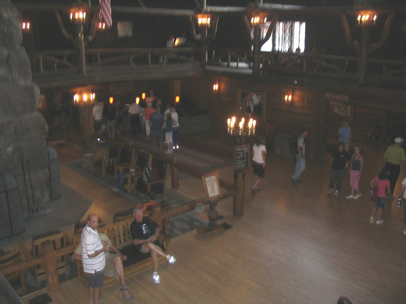 Old Faithful Inn, rebuilt after the fire