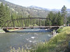 Gallatin river bridge at Big Sky.