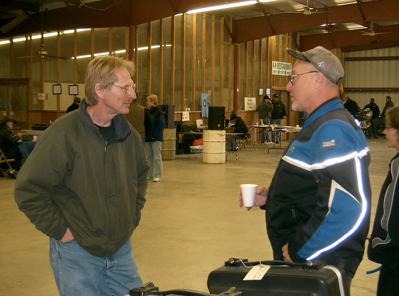 Dan and Bob at the 2008 Pecatonica swapmeet.