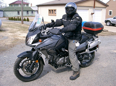 Chad and his 650 V-Strom.