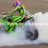 Chris Walker Burn out, PSG-1 Kawasaki, World Suberbikes, Silverstone, May 2006