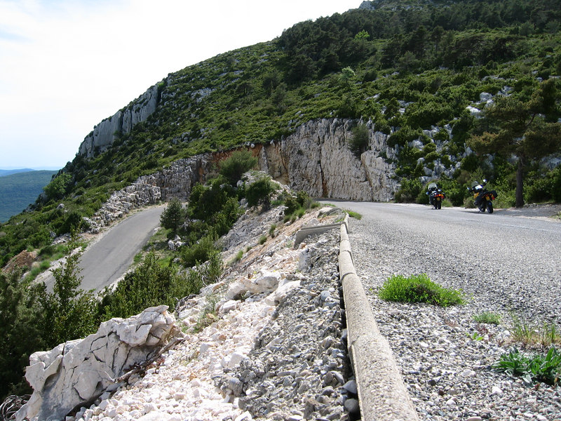 One of those hairpins on the Route des Cretes..