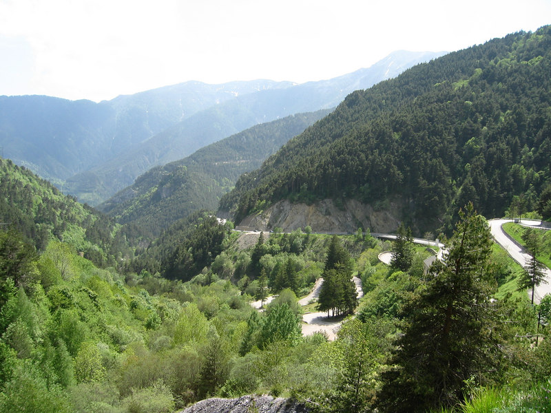 "Impression of the climb towards the ""Col de Tende"". Magnificent piece of road."