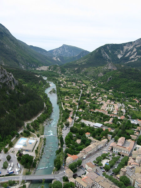 View on Castellane from the chapel. It takes 35 mins to get here!