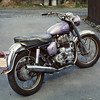 1965 Royal Enfield 750cc Interceptor. I bought it completely stock except for the audacious purple paint