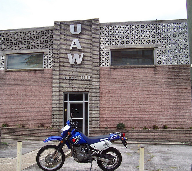 Out n About getting more ADVRider Tag. UAW Union Hall, Birmingham, AL. 26 Jul 2009.