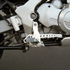 the full right side of the Footpeg Relocation Kit F650GS w/brake and shifter (Touratech Part Number: 300-0040)