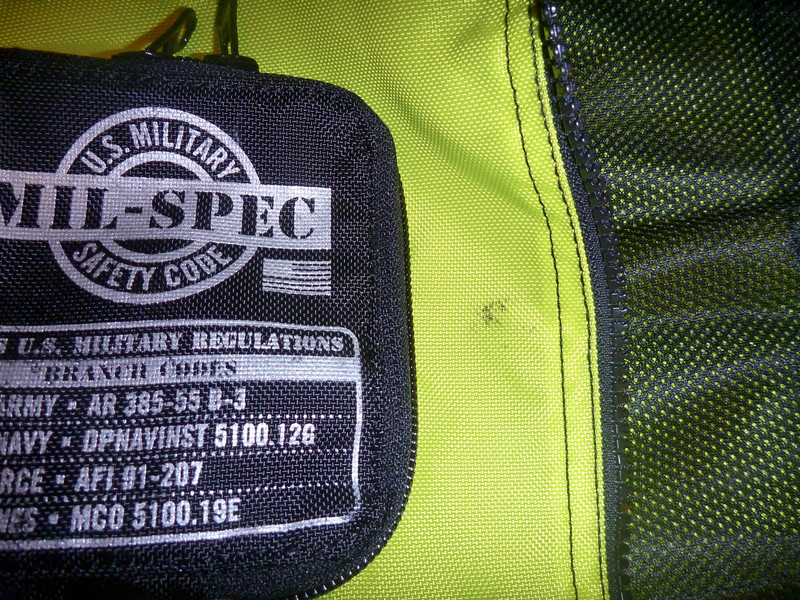 """item: ICON Mil-Spec reflective vest.<br /> part #: <a href=""""http://www.motorcycle-superstore.com/11/51/814/41149/ITEM/Icon-Mil-Spec-MSF-Vest.aspx"""">http://www.motorcycle-superstore.com/11/51/814/41149/ITEM/Icon-Mil-Spec-MSF-Vest.aspx</a><br /> condition: good, a few minor smudges, slight damage to ICON logo on shoulders.<br /> <br /> price: sold"""