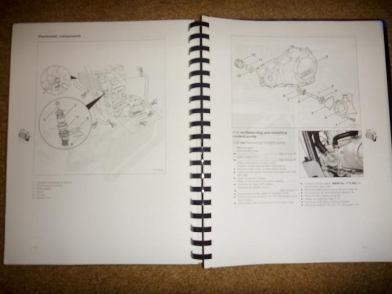 item: official spiral bound repair manual<br /> <br /> price: $5