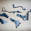 item: stock footpeg mounts, footpegs, brake lever & clutch lever.<br /> <br /> price: $100 obo.