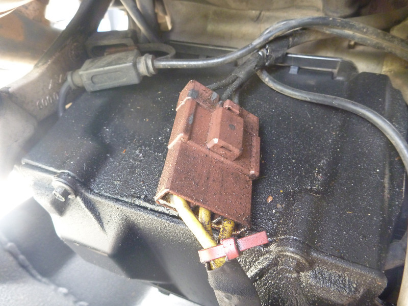 road dust / grease on the battery box.