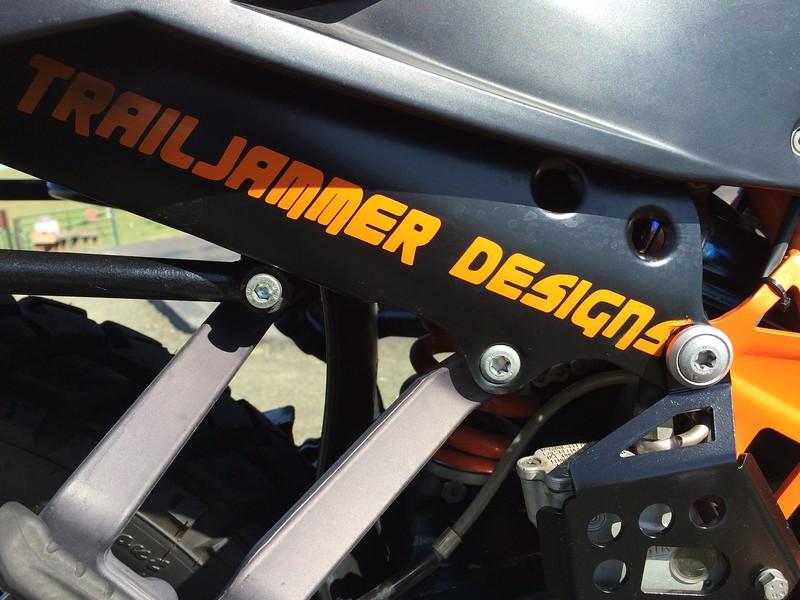 TrailJammer Designs Exhaust Guard & Touratech Rear Brake Guard