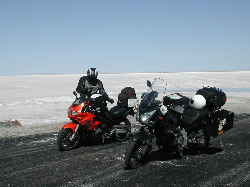 Keith with the bikes at Bonneville in '06