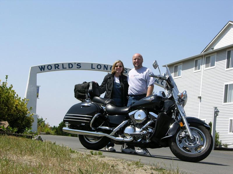 Tina and me at Long Beach, WA