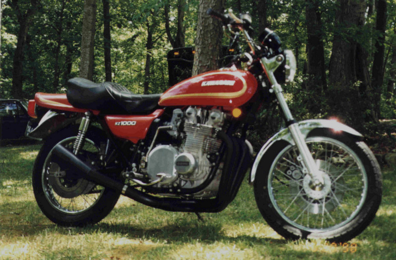 Kawasaki KZ1000A, bought new in 1978