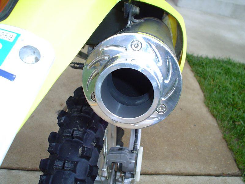 2002 DRZ250<br /> Billet Exhaust tip