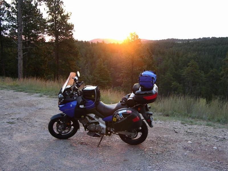 Sunrise in South Dakota, on the way to Mt. Rushmore in '05