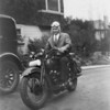 Hank Hjersman on his Harley 45