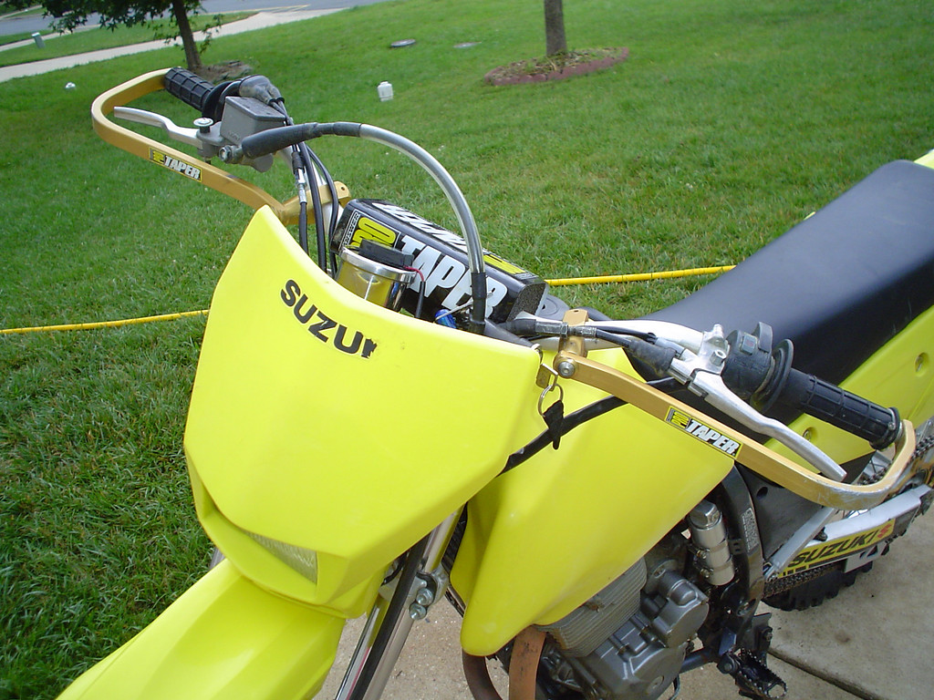 2002 DRZ250<br /> Pro Taper bars, Pro Taper clamp, and Pro Taper handguards