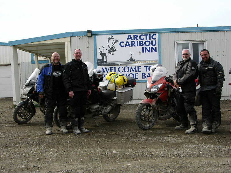 Me, Mark, Dave and Dale in Prudhoe Bay, AK