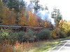 On a backroad from Hill City to Keystone I passed a steam train...