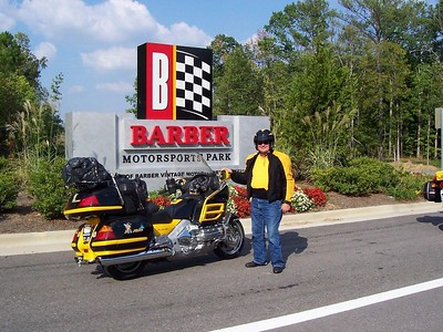 Dad at the entrance to Barber Motorsports Park (museum and race track). Originally we planned ot visit the Barber motorcycle museum on the return trip.