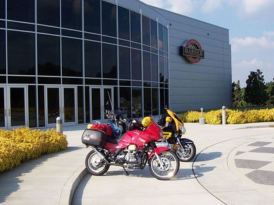 """Reserved, front-door parking for motorcycles. Even on a Sunday the place was quite uncrowded.  All the interior Barber photos can be seen by clicking the Cyclecat gallery link above and selecting the """"Barber"""" album."""
