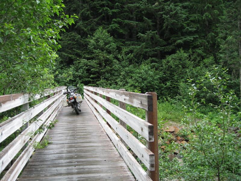 Foot bridge on old Stevens Pass Highway