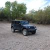 Bob's Jeep in the Gila River.