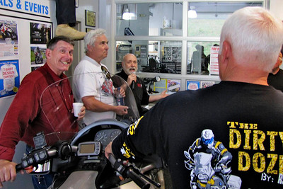 Bob of Bob's BMW giving us a tour of his dealership! ...... and Mac tries to stael the scene!