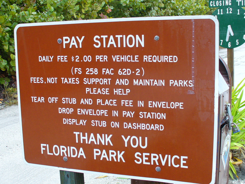 Pay up, sucka! The GPS location is 6 feet in front of this sign.