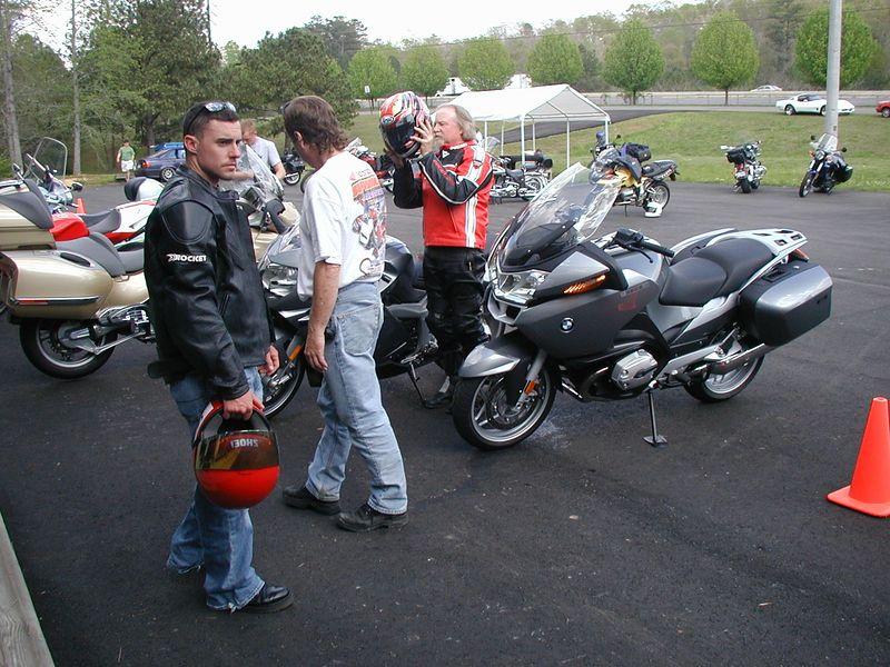 BMW's! Demo bikes! Yum, yum.